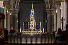 February 21, 2020; High altar in the Basilica of the Sacred Heart (Photo by Matt Cashore/University of Notre Dame)