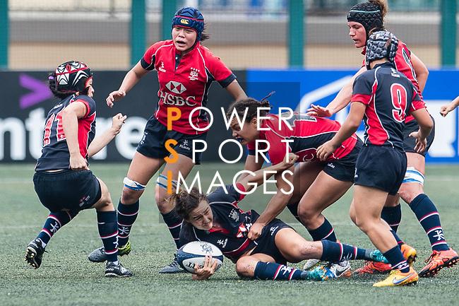 Colleen Tjosvold of Dragons (B) in action during the Women's National Super Series 2017 on 13 May 2017, in Hong Kong Football Club, Hong Kong, China. Photo by Marcio Rodrigo Machado / Power Sport Images