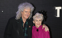 Brian May & Anita Dobson attend the STAR WARS: 'The Force Awakens' EUROPEAN PREMIERE at Odeon, Empire & Vue Cinemas, Leicester Square, England on 16 December 2015. Photo by David Horn / PRiME Media Images