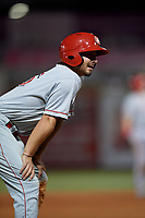 Chattanooga Lookouts Jonathan India (16) during a Southern League game against the Birmingham Barons on July 24, 2019 at Regions Field in Birmingham, Alabama.  Chattanooga defeated Birmingham 9-1.  (Mike Janes/Four Seam Images)
