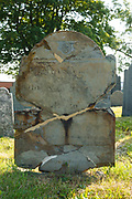 Old 1700s headstone at North Cemetery in Portsmouth, New Hampshire.