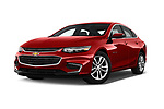 Stock pictures of low aggressive front three quarter view of 2016 Chevrolet Malibu 1LT 4 Door Sedan Low Aggressive