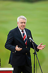 3rd June 2012 - Celtic Manor Resort - Newport - South Wales - UK :   First Minister for Wales Carwyn Jones AM at  the ISPS Handa Wales Open Golf Tournament at the Celtic Manor Resort..