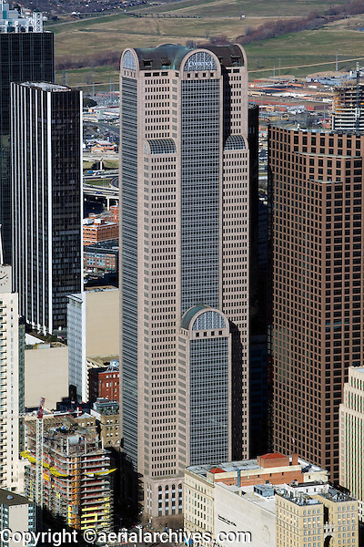 aerial photograph of Comerica Bank Tower, Dallas, Texas