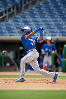 Toronto Blue Jays Hugo Cardona (2) at bat during an Instructional League game against the Philadelphia Phillies on September 23, 2019 at Spectrum Field in Clearwater, Florida.  (Mike Janes/Four Seam Images)
