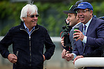 JUNE 5, 2015: Ahmed Zayat, owner of American Pharoah, and trainer Bob Baffert during morning workouts in preparation for the 147th running of the Belmont Stakes at Belmont Park in New York, NY. Jon Durr/ESW/CSM