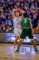 19 January 2019: University of Vermont Catamount Forward Bailey Patella, a Sophomore from Lenox, MA, in first half Men's Basketball action against the Binghamton University Bearcats at Patrick Gymnasium in Burlington, Vermont. The Catamounts defeated the Bearcats 78-50 to remain unbeaten in conference play to date this season. Mandatory Credit: Ed Wolfstein Photo *** RAW (NEF) Image File Available ***