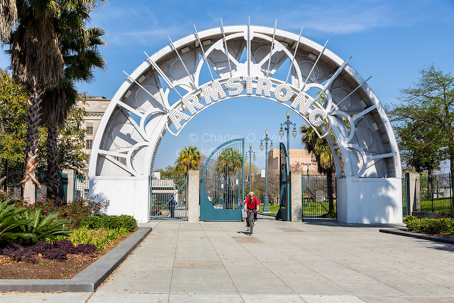 New Orleans, Louisiana.  Entrance to Louis Armstrong Park.