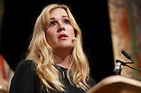 Pictured: Sarah Churchwell.<br /> Re: Hay Festival at Hay on Wye, Powys, Wales, UK. Saturday 02 June 2018