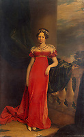 Portrait of Grand Duchess Maria Pavlovna of Russia (1786–1859), Grand Duchess of Saxe-Weimar-Eisenach<br /> Artist:Dawe, George(1781-1829)<br /> Museum:State Hermitage, St. Petersburg<br /> Method:Oil on canvas<br /> Created:1822<br /> School:Great Britain<br /> Trend in art:English Painting of 19th cen.