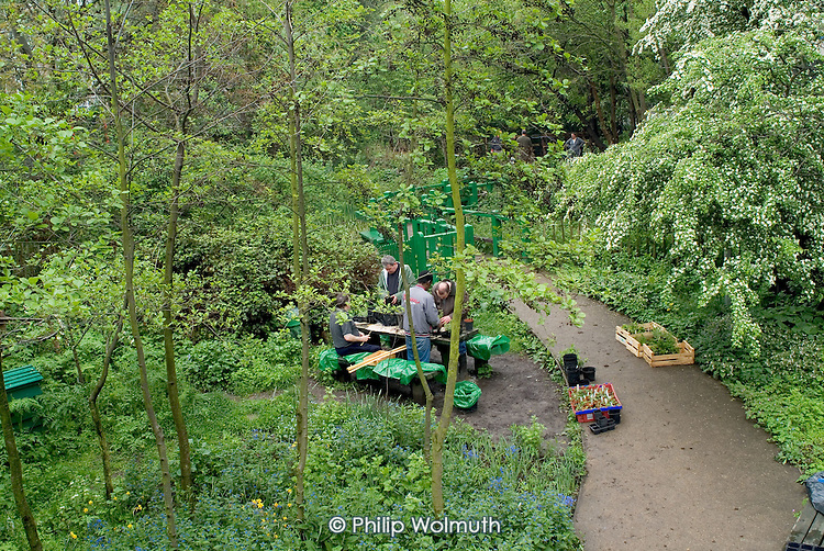 Kensington & Chelsea MIND's horticultural training project at Meanwhile Gardens, West London.