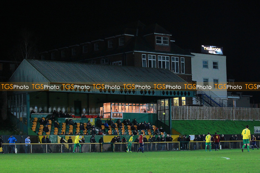 General view of the main stand during Thurrock vs Romford, Ryman League Divison 1 North Football at Ship Lane, Thurrock, England on 29/12/2015