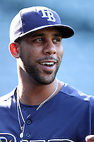 Tampa Bay Rays pitcher David Price #14 before a game against the Los Angeles Angels at Angel Stadium on June 18, 2011 in Anaheim,California. (Larry Goren/Four Seam Images)