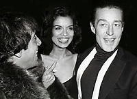 Bianca Jagger, Steve Rubell, Halston 1978<br /> Photo By Adam Scull/PHOTOlink.net