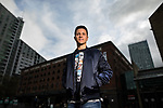 © Joel Goodman - 07973 332324 - all rights reserved . 05/04/2017 . Manchester , UK . Manchester United footballer , ANDER HERRERA , outside the Great Northern complex , in Manchester City Centre . Photo credit : Joel Goodman