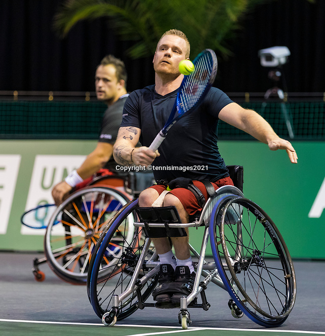 Rotterdam, The Netherlands, 6 march  2021, ABNAMRO World Tennis Tournament, Ahoy,  <br /> Semi final wheelchair: Tom Egberink (NED) Maikel Scheffers (NED).<br /> Photo: www.tennisimages.com/henkkoster