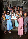NEW YORK, NY - JULY 23: (L-R) Adepero Oduye, Cuba Gooding Jr., Vanessa Williams, Tom Wopat, Cicely Tyson and cast attend 'The Trip To Bountiful' 100th Performance Celebration at Stephen Sondheim Theatre on July 23, 2013 in New York City.