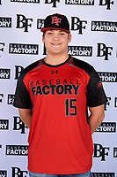Landon Gartman (15) of Enterprise High School in Bogue Chitto, Mississippi during the Baseball Factory All-America Pre-Season Tournament, powered by Under Armour, on January 12, 2018 at Sloan Park Complex in Mesa, Arizona.  (Mike Janes/Four Seam Images)