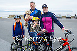 Enjoying a cycle around Ballyheigue on Sunday, l to r: Jamie, Alan, Joey and Olivia O'Brien with Coco the dog.