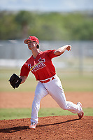 St. Louis Cardinals Chandler Hawkins (13) during a minor league Spring Training game against the New York Mets on March 28, 2017 at the Roger Dean Stadium Complex in Jupiter, Florida.  (Mike Janes/Four Seam Images)