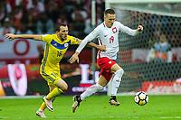 04.09.2017, Warszawa, pilka nozna, kwalifikacje do Mistrzostw Swiata 2018, Polska - Kazachstan, Piotr Zielinski (POL), Gafurzhan Suyumbayev (KAZ), Poland - Kazakhstan, World Cup 2018 qualifier, football, fot. Tomasz Jastrzebowski / Foto Olimpik<br /><br />POLAND OUT !!!! *** Local Caption *** +++ POL out!! +++<br /> Contact: +49-40-22 63 02 60 , info@pixathlon.de