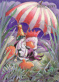 Ron, CUTE ANIMALS, Quacker, paintings, duck, umbrella, champagn(GBSG8097,#AC#) Enten, patos, illustrations, pinturas