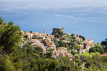 France, Provence-Alpes-Côte d'Azur, Roquebrune-Cap-Martin: village in southeastern France between Monaco and Menton | Frankreich, Provence-Alpes-Côte d'Azur, Roquebrune-Cap-Martin: Bergdorf in den Auslaeufern der franzoesischen Seealpen zwischen Monaco and Menton