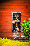 Mother & son on the island of Nauru