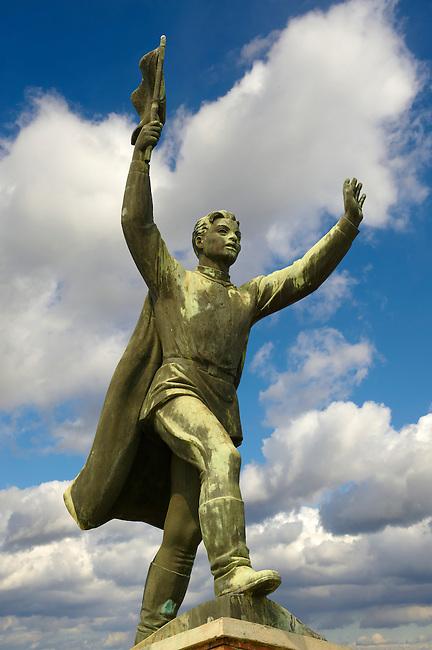 Captain Steinmetz monumet statue - Memento Sculpture Park ( Szobaopark ) Budapest, Hungary