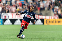 FOXBOROUGH, MA - JULY 7: Teal Bunbury #10 of New England Revolution looks to pass during a game between Toronto FC and New England Revolution at Gillette Stadium on July 7, 2021 in Foxborough, Massachusetts.