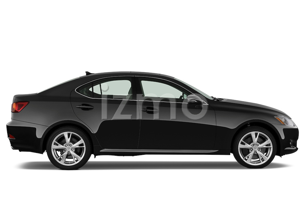 Passenger side profile view of a 2009 Lexus IS 350.