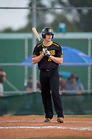 Tyler Albright (10) during the WWBA World Championship at Terry Park on October 11, 2020 in Fort Myers, Florida.  Tyler Albright, a resident of Greensboro, North Carolina who attends Grimsley High School, is committed to Duke.  (Mike Janes/Four Seam Images)