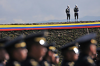 BOGOTA -COLOMBIA- 08 -11--2013. Ceremonia del aniversario 94 de La Fuerza Aerea Colombiana ,con la asistencia del Se–or Presidente de La Republica Juan Manuel Santos , el se–or  Ministro de Defensa Juan Carlos Pinzon y toda la cupula militar  / 94 Anniversary Ceremony of Colombian Air Force, with the assistance of the President of the Republic, Juan Manuel Santos, the Defense Minister Juan Carlos Pinzon and all military dome .Photos: VizzorImage / Mauricio Orjuela  / Ministerio de Defensa Nacional