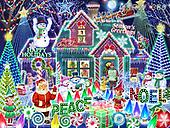 Randy, CHRISTMAS SANTA, SNOWMAN, WEIHNACHTSMÄNNER, SCHNEEMÄNNER, PAPÁ NOEL, MUÑECOS DE NIEVE, paintings+++++,USRW380,#x#