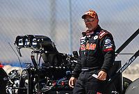 Apr. 13, 2008; Las Vegas, NV, USA: NHRA top fuel dragster driver Cory McClenathan during the SummitRacing.com Nationals at The Strip in Las Vegas. Mandatory Credit: Mark J. Rebilas-