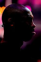 21st October 2017; Paris, France; Kobe Bryant, Los Angeles basketball star holds a training camp in Paris for kids;  profil de Kobe Bryant