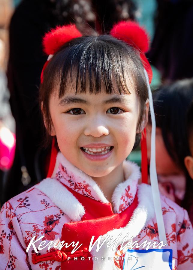 Lunar New Year Costume Contest, Chinese New Year, Chinatown, Seattle, WA, USA.