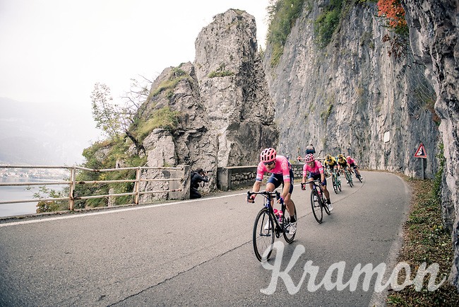 Tanel Kangert (EST/EF Education First) descending fast in the approach towards the Madonna del Ghisallo (754m)<br /> <br /> 113th Il Lombardia 2019 (1.UWT)<br /> 1 day race from Bergamo to Como (ITA/243km)<br /> <br /> ©kramon