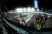 HOMESTEAD, FLORIDA - JUNE 14: Denny Hamlin, driver of the #11 Toyota, speaks to the takes the checkered flag after winning the NASCAR Cup Series Dixie Vodka 400 at Homestead-Miami Speedway on June 14, 2020 in Homestead, Florida. (Photo by Michael Reaves/Getty Images)