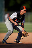 Ronald Evans II during the WWBA World Championship at the Roger Dean Complex on October 19, 2018 in Jupiter, Florida.  Ronald Evans II is a third baseman from Raleigh, North Carolina who attends Crossroads Flex High School and is committed to UNC-Wilmington.  (Mike Janes/Four Seam Images)