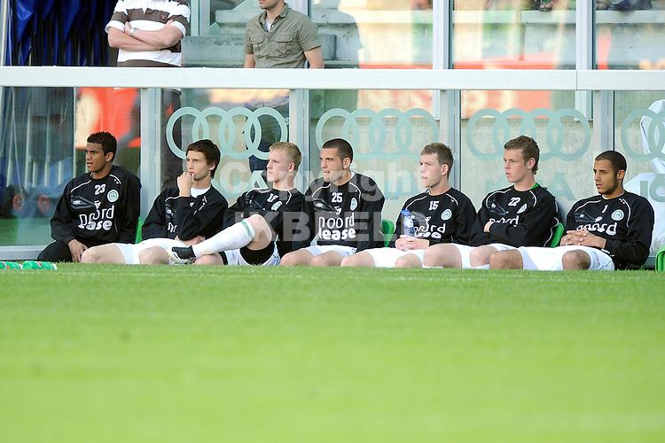 voetbal fc groningen nec play off eredivisie seizoen 2007-2008 11-05-2008  groningen bank..fotograaf Jan Kanning.. ..