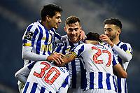 3rd January 2021; Dragao Stadium, Porto, Portugal; Portuguese Championship 2020/2021, FC Porto versus Moreirense; Players of FC Porto celebrates scored goal by Evanilson in the 91st minute 3-0