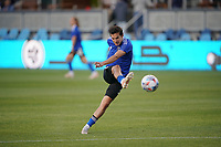 SAN JOSE, CA - MAY 1: Carlos Fierro #7 of the San Jose Earthquakes before a game between D.C. United and San Jose Earthquakes at PayPal Park on May 1, 2021 in San Jose, California.