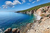 Chalikiada is the most popular beach in Agistri island, Greece