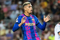 14th September 2021: Nou Camp, Barcelona, Spain: ECL Champions League football, FC Barcelona versus Bayern Munich: Araujo in action