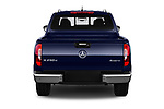 Straight rear view of a 2018 Mercedes Benz X Class Power 4 Door Pick Up stock images