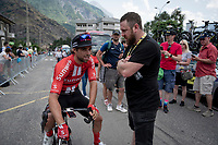 2 Aussies/ 2 'Matthews' at the race start in Saint-Jean-de-Maurienne: Michael Matthews (AUS/Sunweb) & former Milano-Sanremo winner Matthew Goss<br /> <br /> Stage 19: Saint-Jean-de-Maurienne to Tignes (126km)<br /> 106th Tour de France 2019 (2.UWT)<br /> <br /> ©kramon