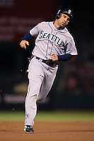 Raul Ibanez of the Seattle Mariners during a game from the 2007 season at Angel Stadium in Anaheim, California. (Larry Goren/Four Seam Images)