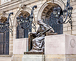 The main branch of the Boston Public Library in Copley Square, Boston, Massachusetts, USA