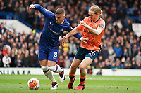 Chelsea's Ross Barkley battles for possession with Everton's Tom Davies<br /> <br /> Photographer Stephanie Meek/CameraSport<br /> <br /> The Premier League - Chelsea v Everton - Sunday 8th March 2020 - Stamford Bridge - London<br /> <br /> World Copyright © 2020 CameraSport. All rights reserved. 43 Linden Ave. Countesthorpe. Leicester. England. LE8 5PG - Tel: +44 (0) 116 277 4147 - admin@camerasport.com - www.camerasport.com